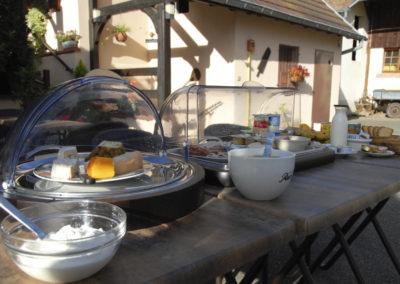 Petit dejeuner Fief du chateau